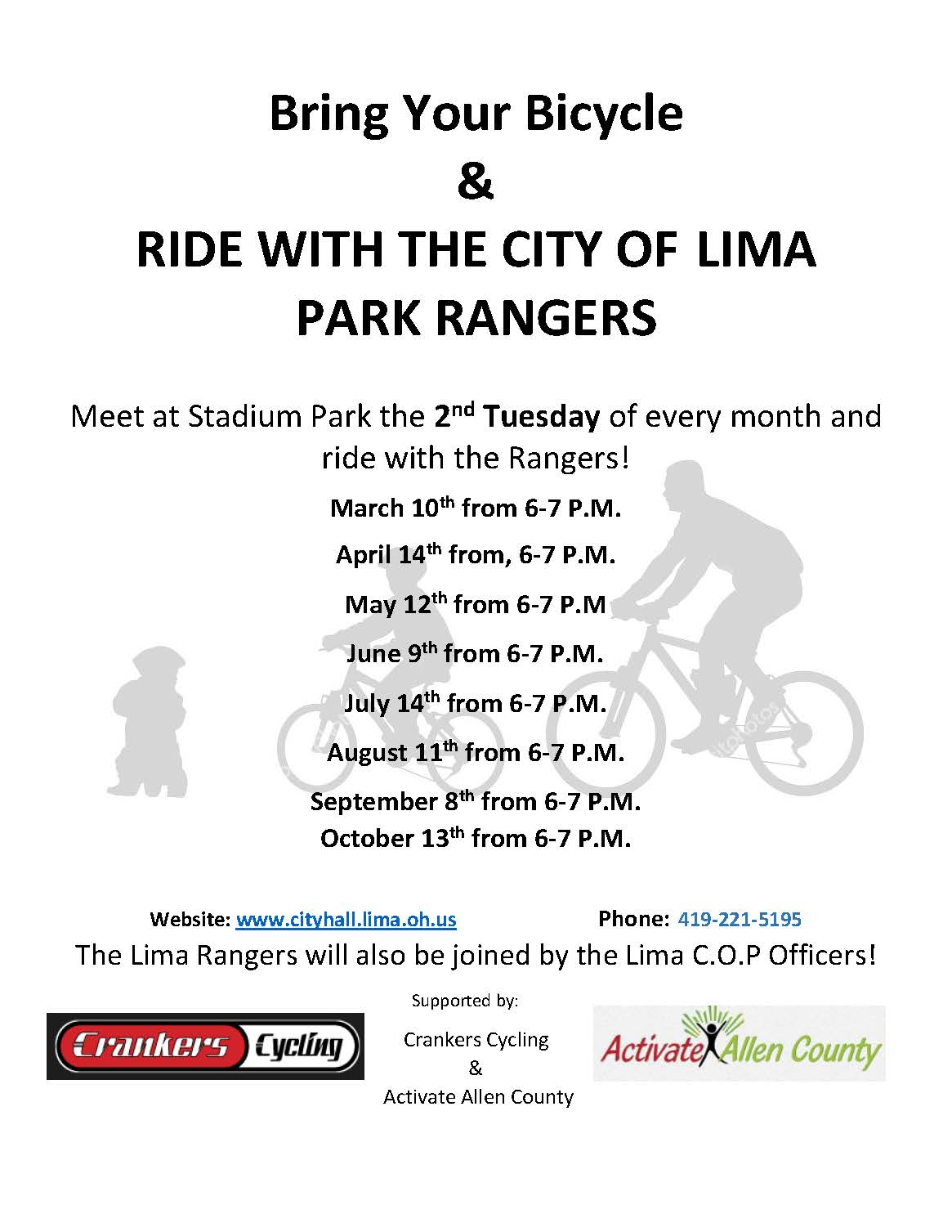 RIDE WITH THE PARK RANGERS