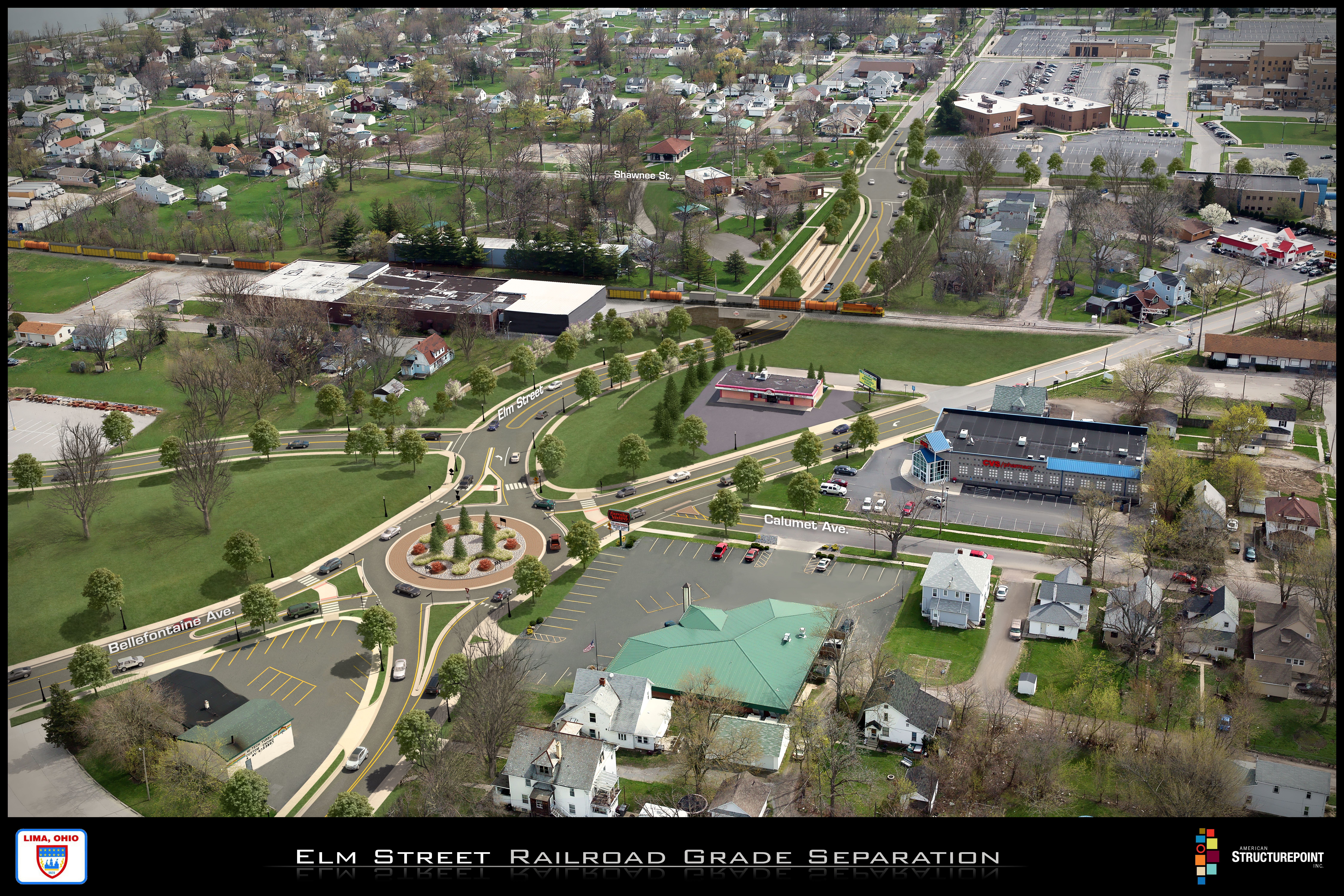 Concept of Elm Street Railroad Grade Separation