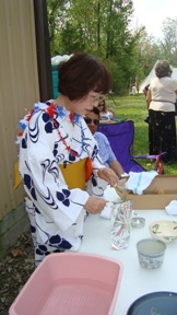Demonstration of Japanese crafts