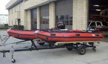 photo of rescue boats